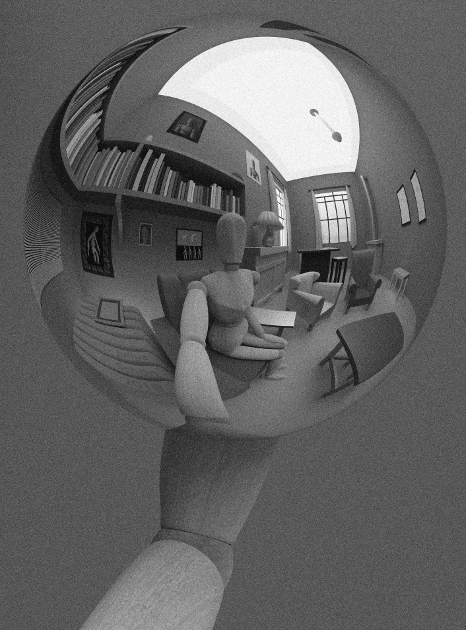 Escher Ball, shaded